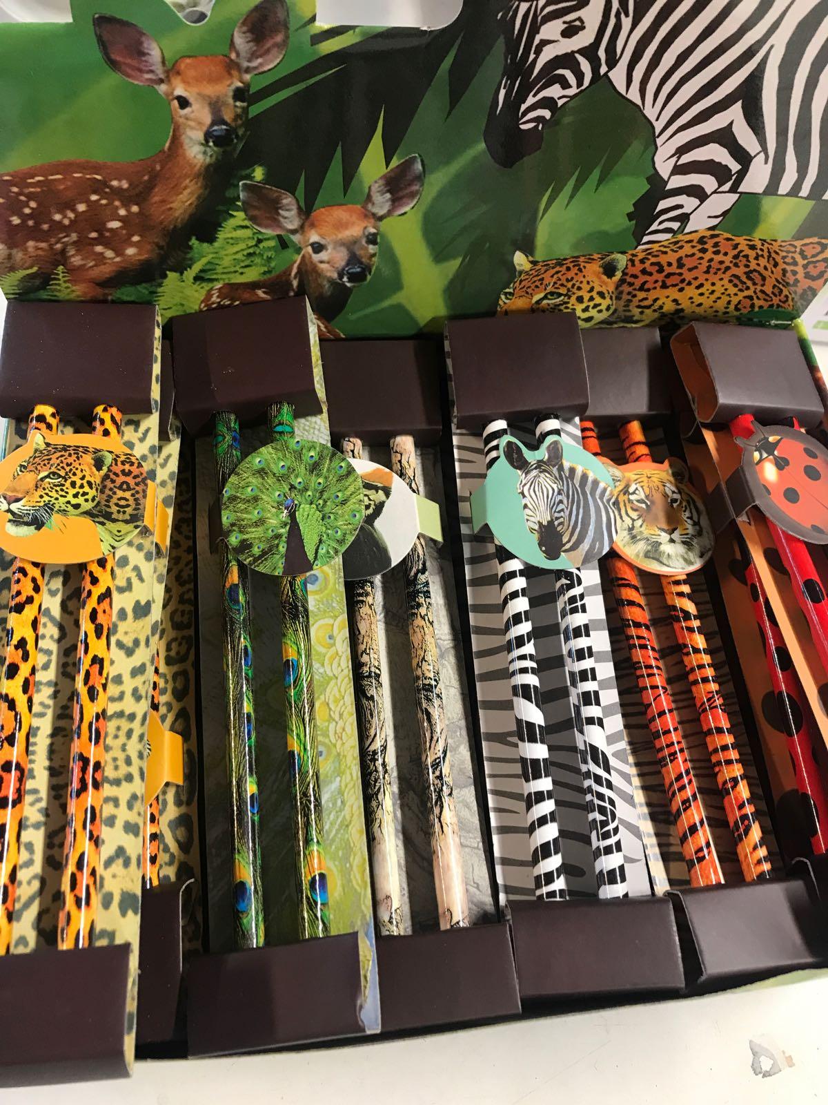 Blyertspennor med djurmotiv 17 cm