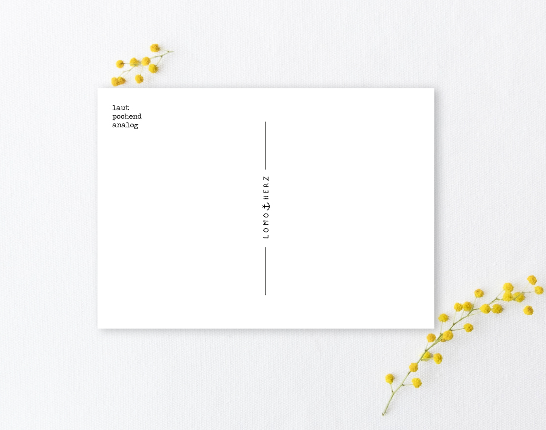 Lomoherz - Postkarte Hiddensee Blaue Stunde