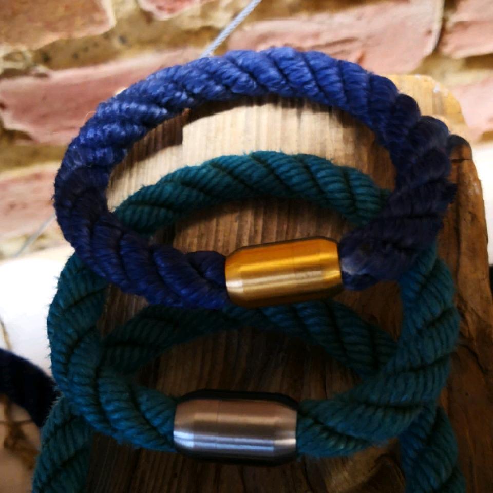 Fischereidesign  - Armband, 10 mm, eingefärbt Edelstahlverschluss