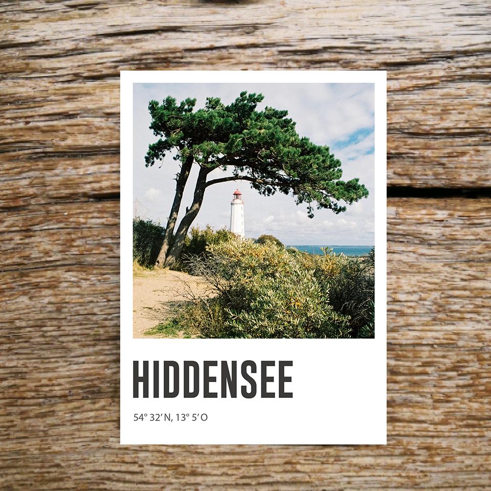 Lomoherz - Postkarte Hiddensee