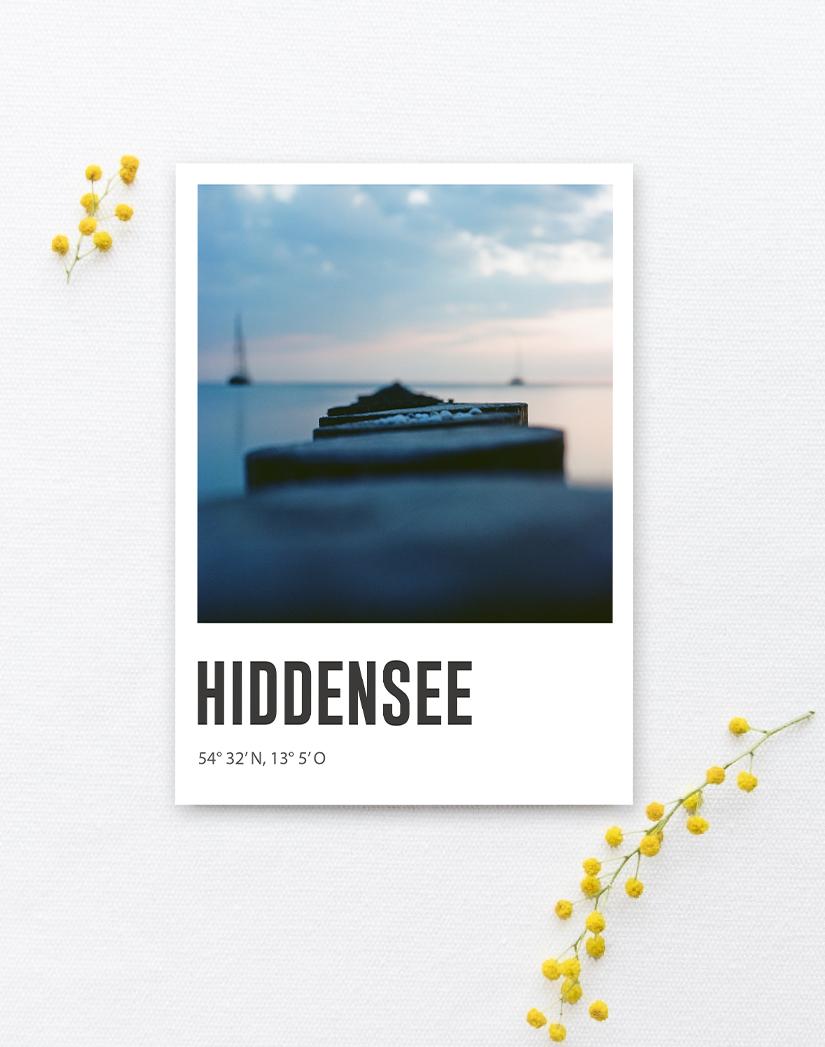 Lomoherz - Postkarte Hiddensee Buhnen