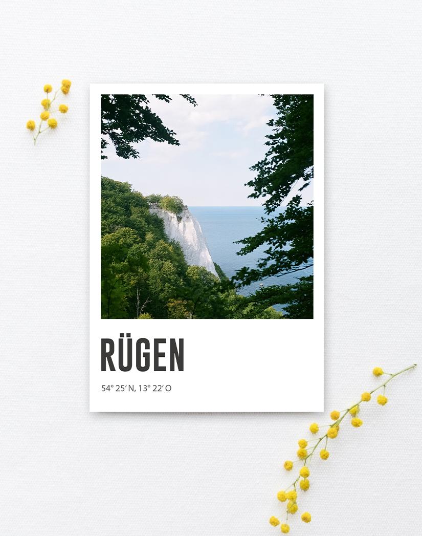 Lomoherz - Postkarte Rügen