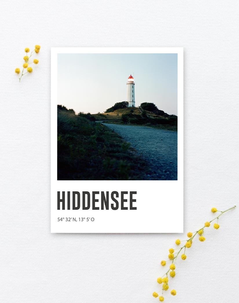 Lomoherz - Postkarte Hiddensee Dornbusch