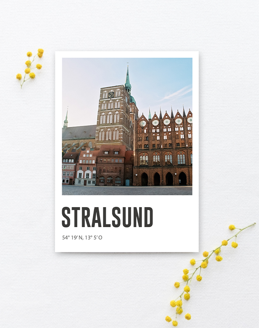 Lomoherz - Postkarte Stralsund