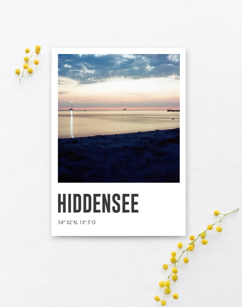 Lomoherz - Postkarte Hiddensee Sonnenuntergang