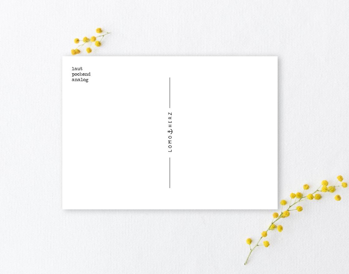 Lomoherz - Postkarte Hiddensee Leuchtturm Gellen