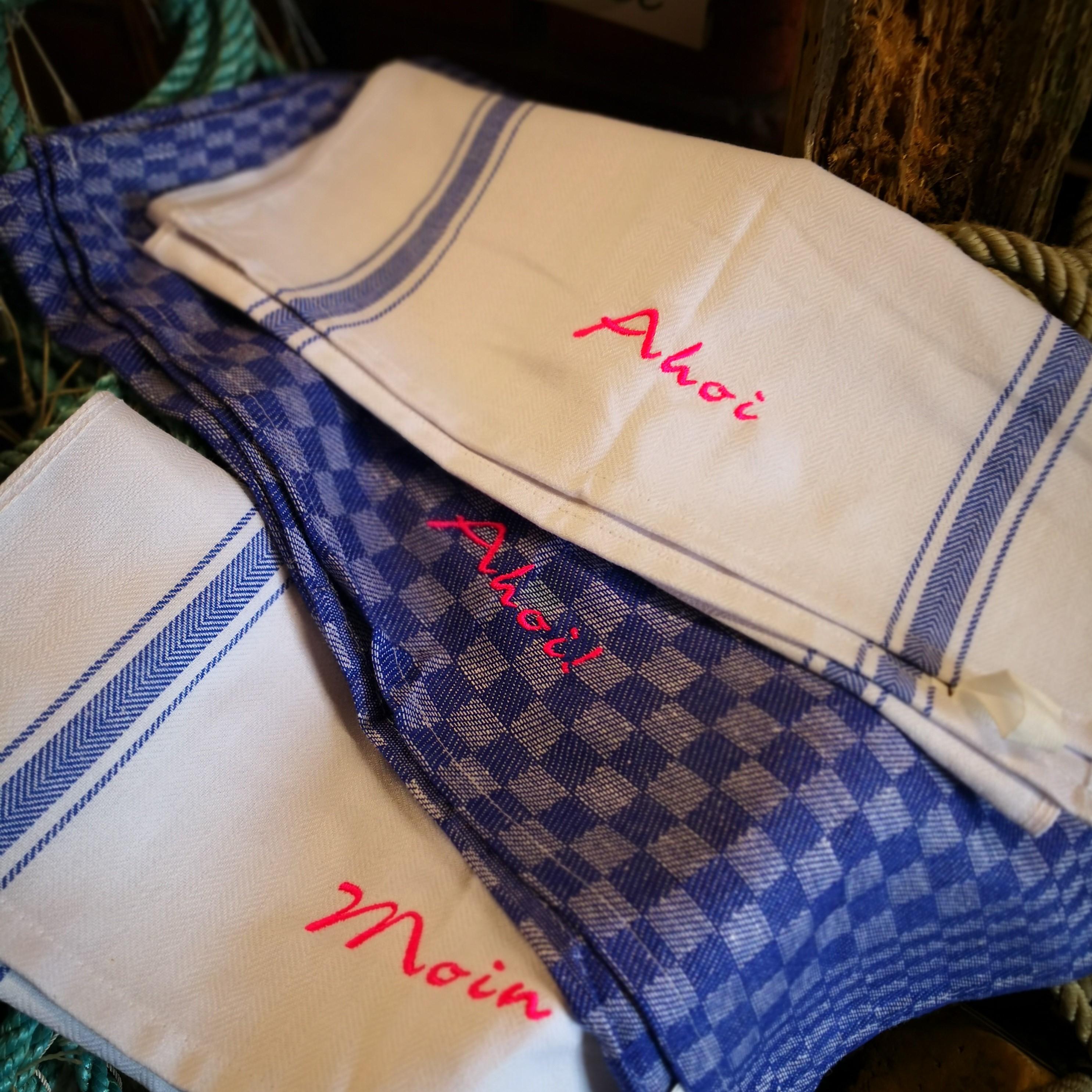 Fischuppen - Geschirrhandtuch