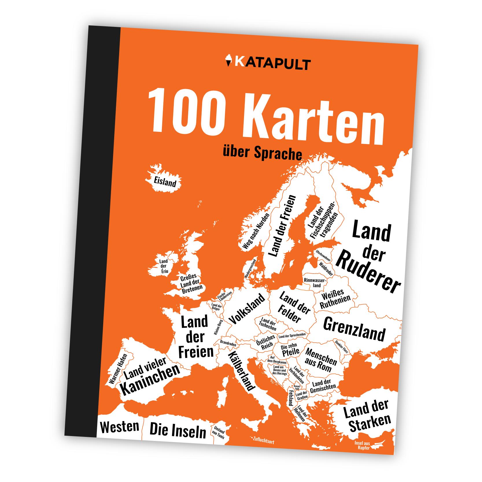 KATAPULT - Atlas: 100 Karten über Sprache