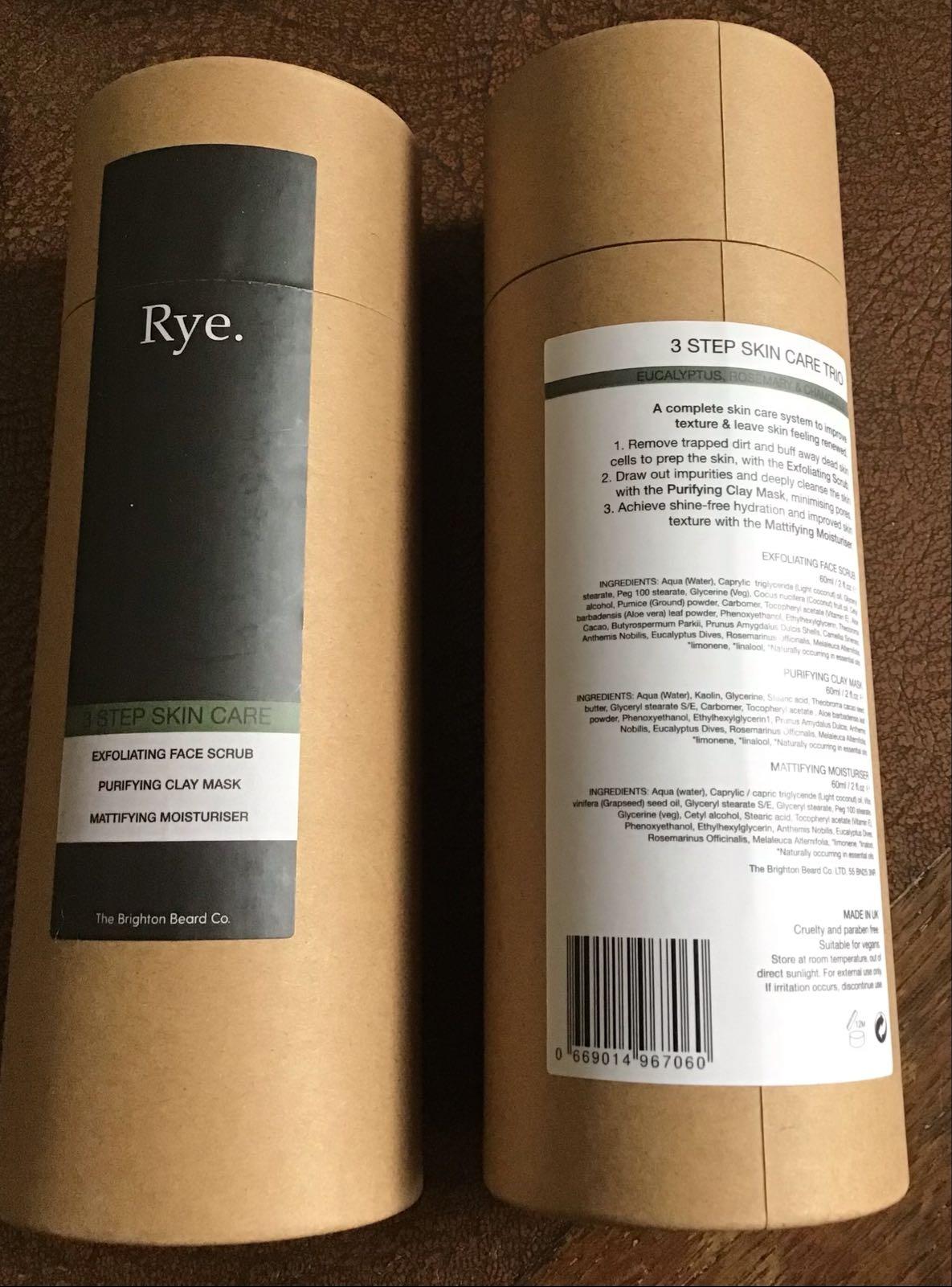 Rye  3 step skin care trio