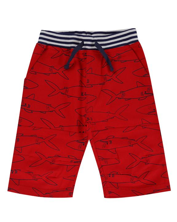 Sale - Lilly + Sid Printed Board Shorts - Sharky 3-4 years