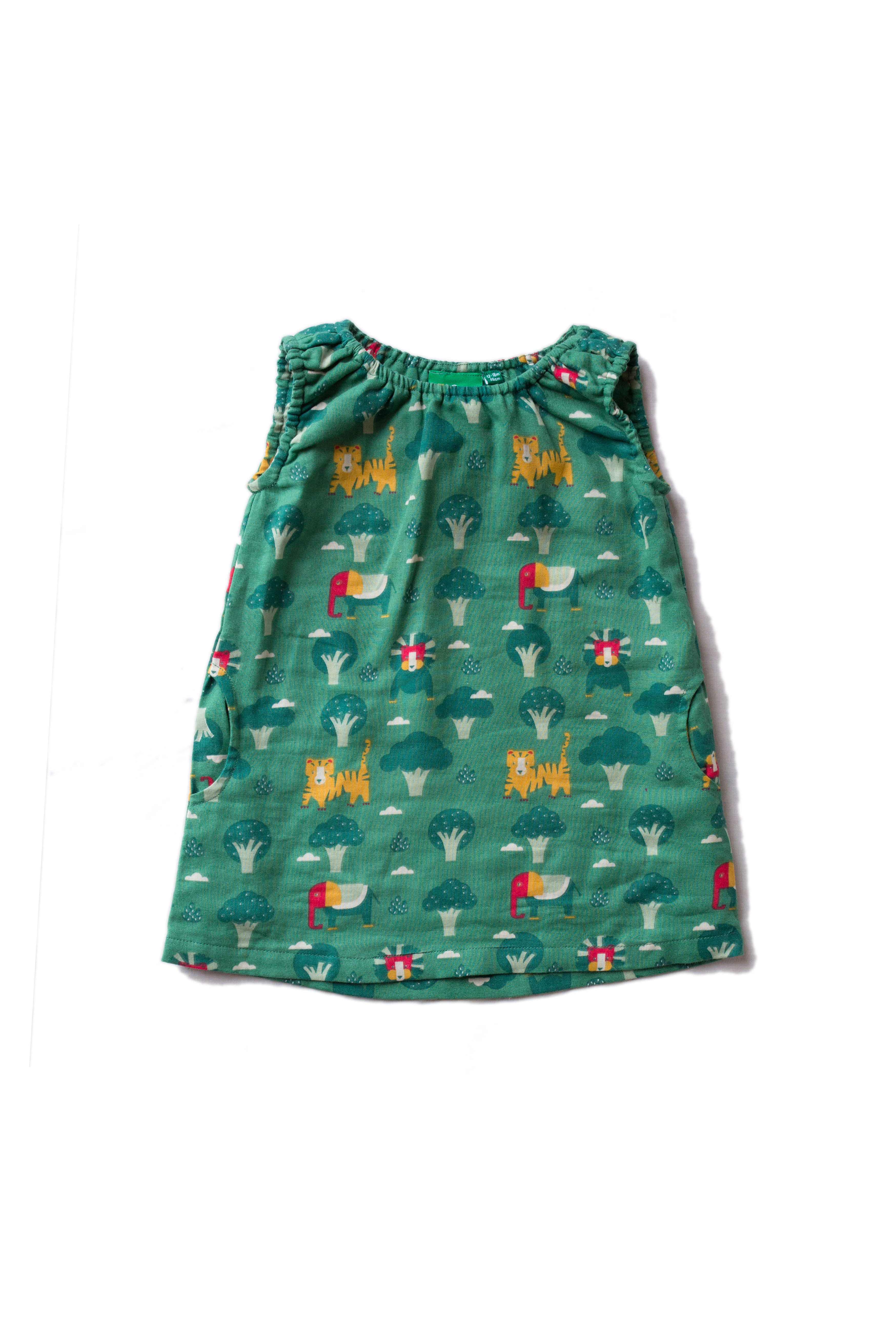 Little Green Radicals - jungle adventures twirl dress