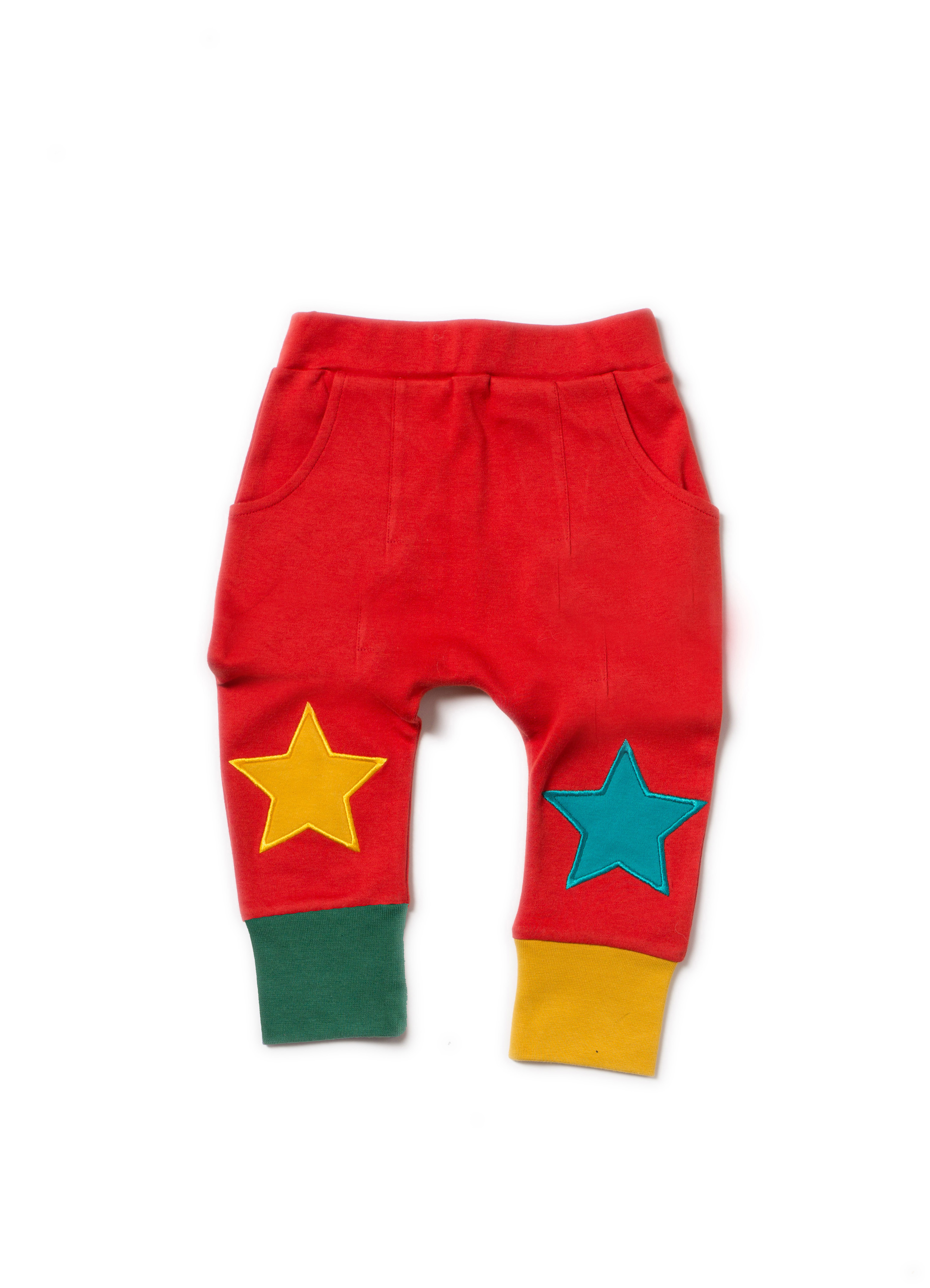 Little Green Radicals - Red star joggers