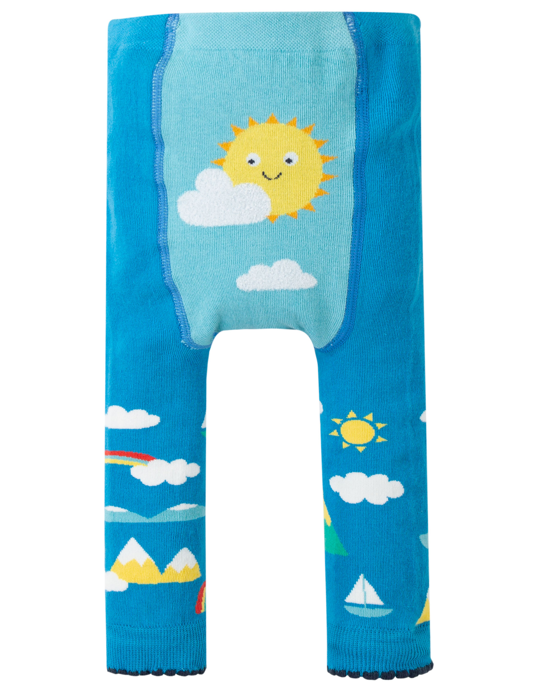 Frugi - Fun Kinitted leggings - Bright sky/sun