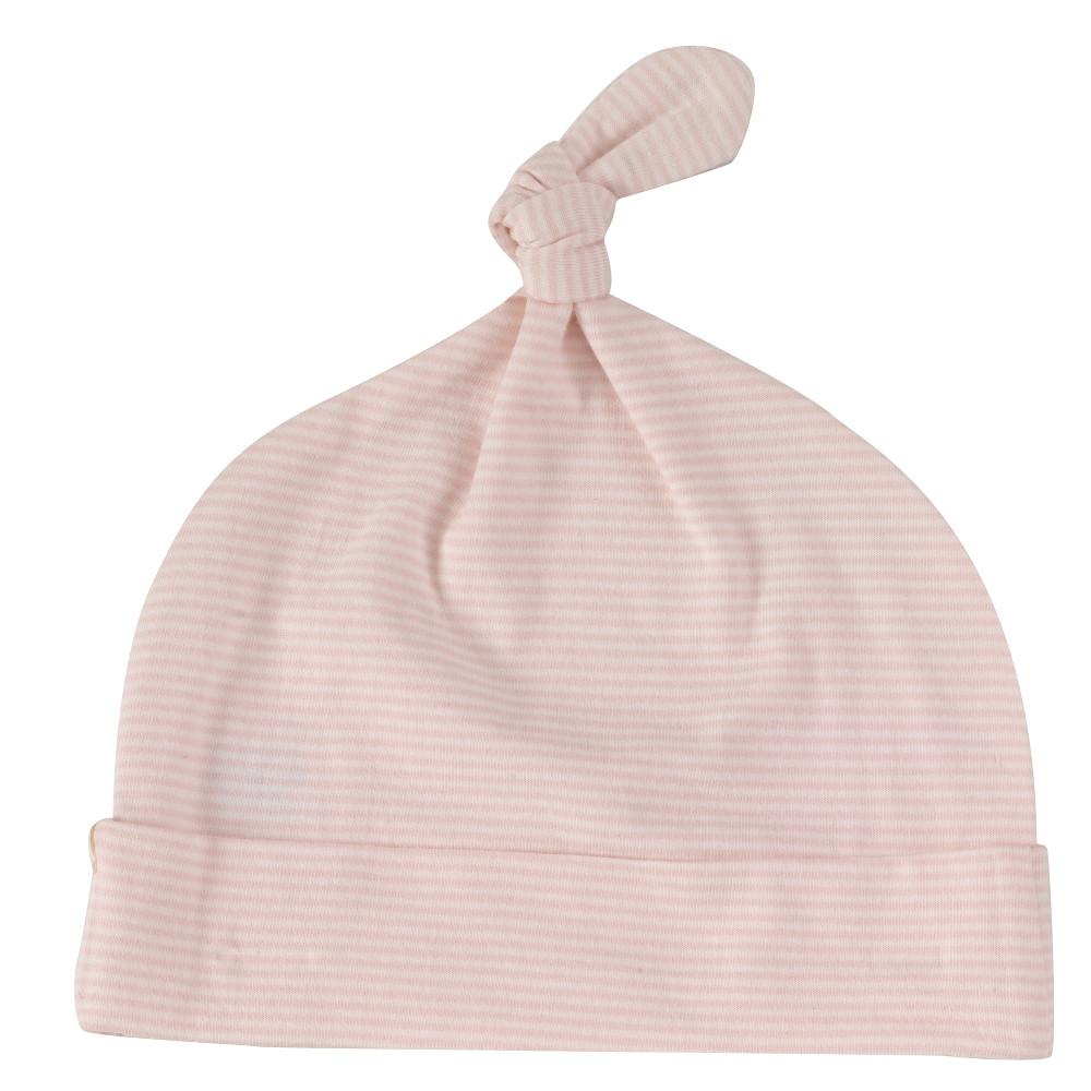Pigeon knotted hat-fine stripe-pink