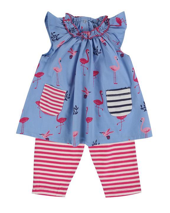 Lilly + Sid - Dress/Leggings set - Flamingo