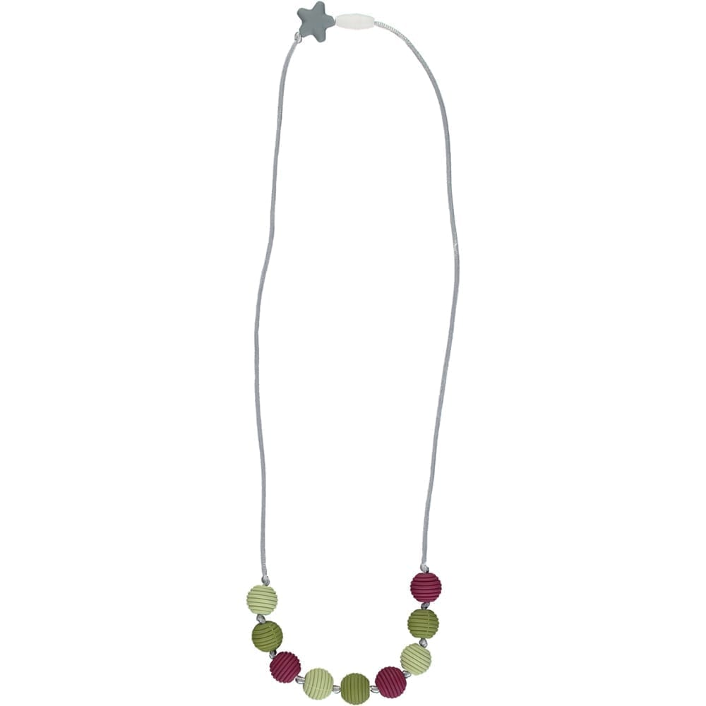 Nibbling - Henley Teething Necklace - Pomegranate and Kale