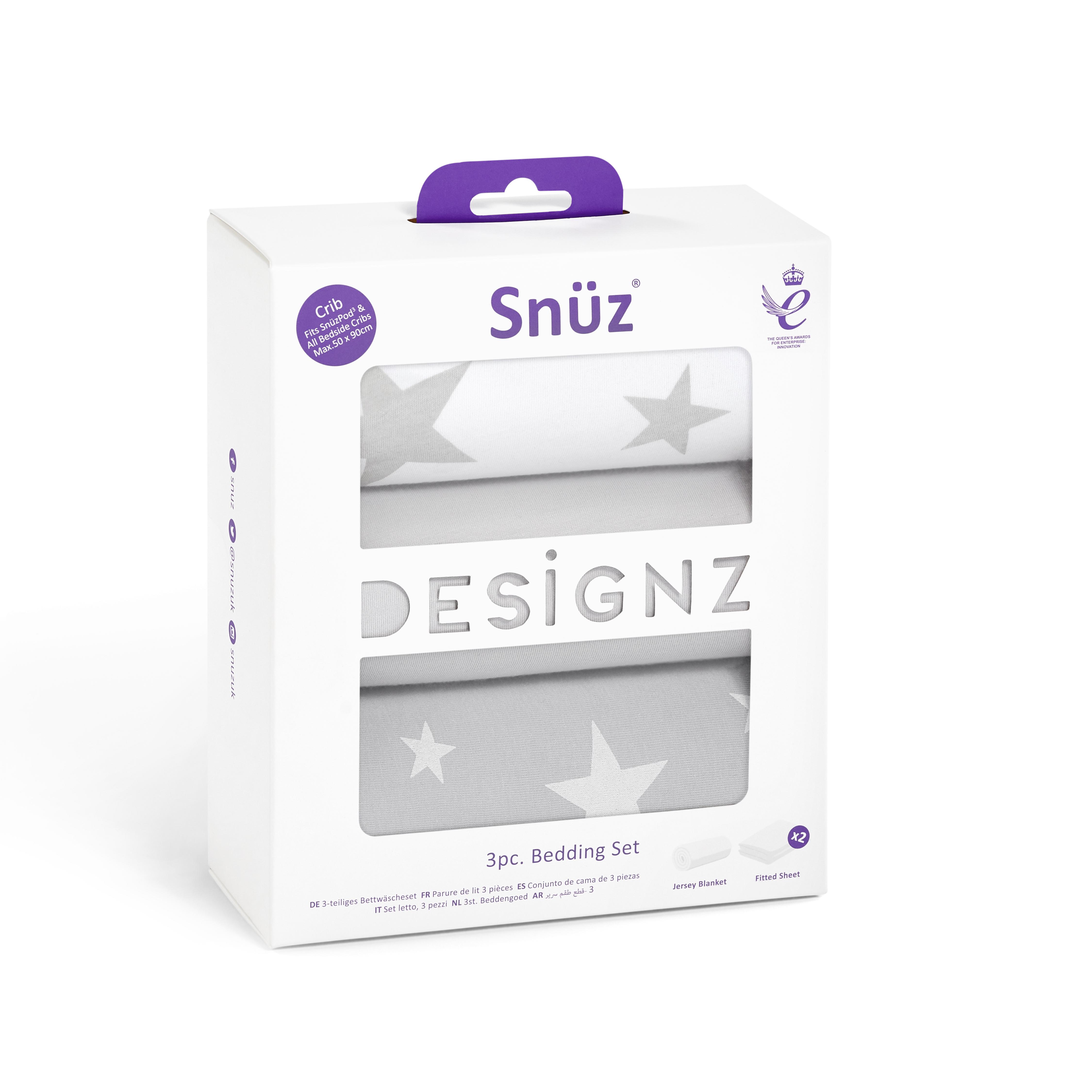 Snuz 3pc. Bedside Crib Bedding Set - Stars