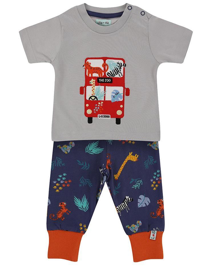 Lilly + Sid - Safari leggings and bus set