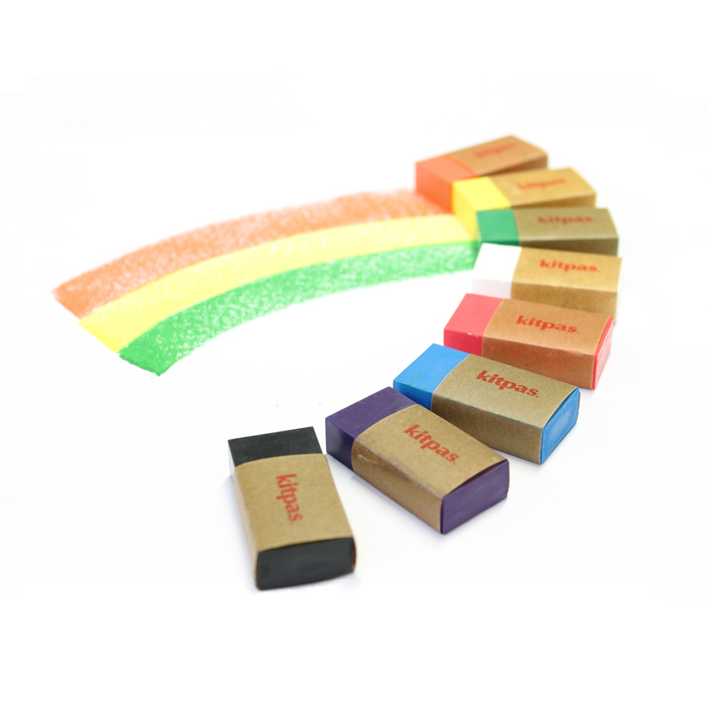 Kitpas - Crayon Block - 8 Colours