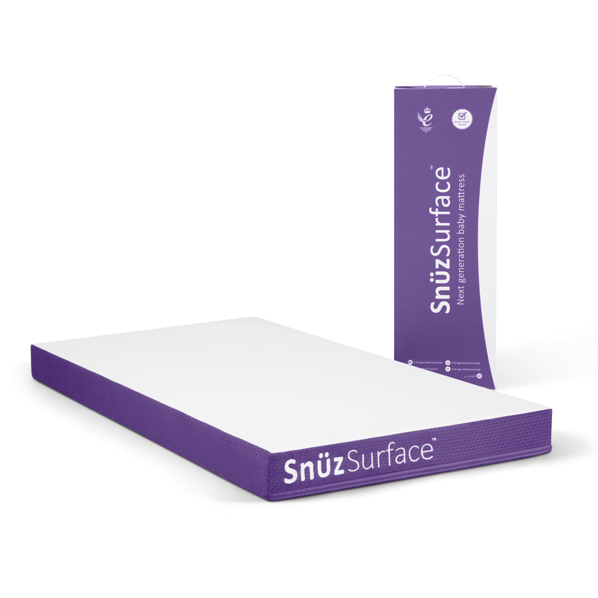 SnuzSurface Adaptable Cot Bed Mattress - 68 x 117cm (SnuzKot)