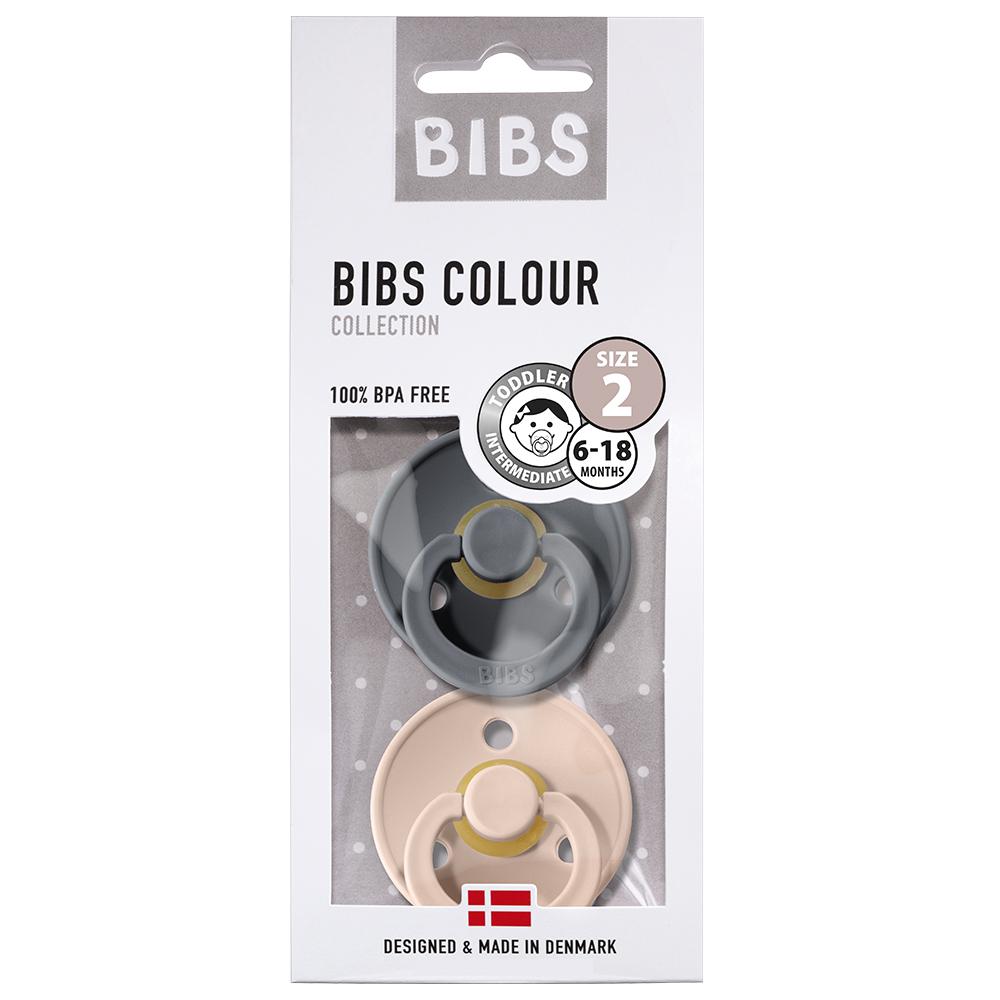 Bibs - Twin Dummy Pack Size 2 Iron & Blush