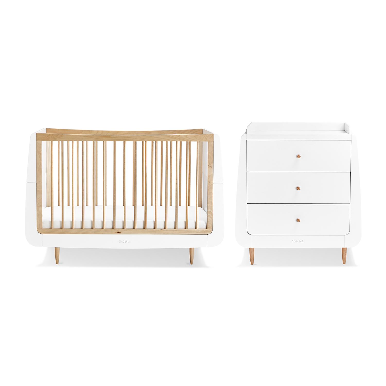 SnuzKot Skandi 2 Piece Nursery Furniture Set - Natural (SAVE £50)
