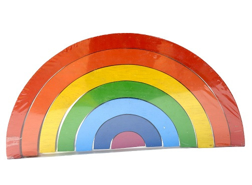 Best Years - Wooden Rainbow Puzzle