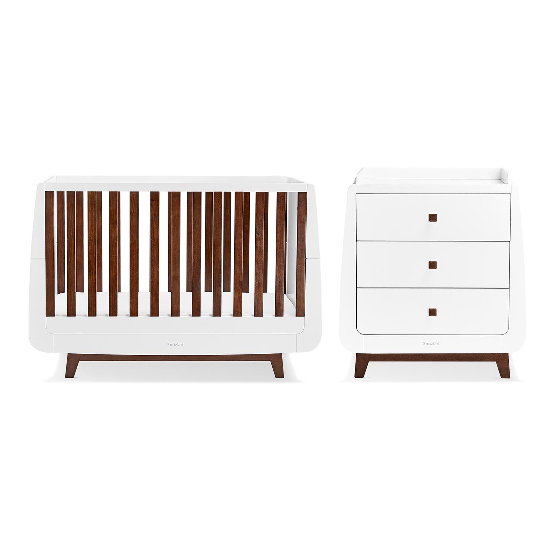SnuzKot Luxe 2 Piece Nursery Furniture Set - Espresso (SAVE £50)