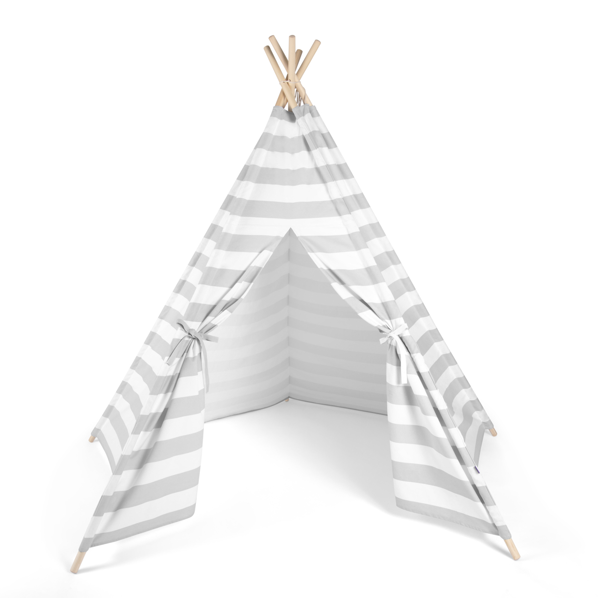 Snuz Kids Teepee Play Tent - Grey Stripe