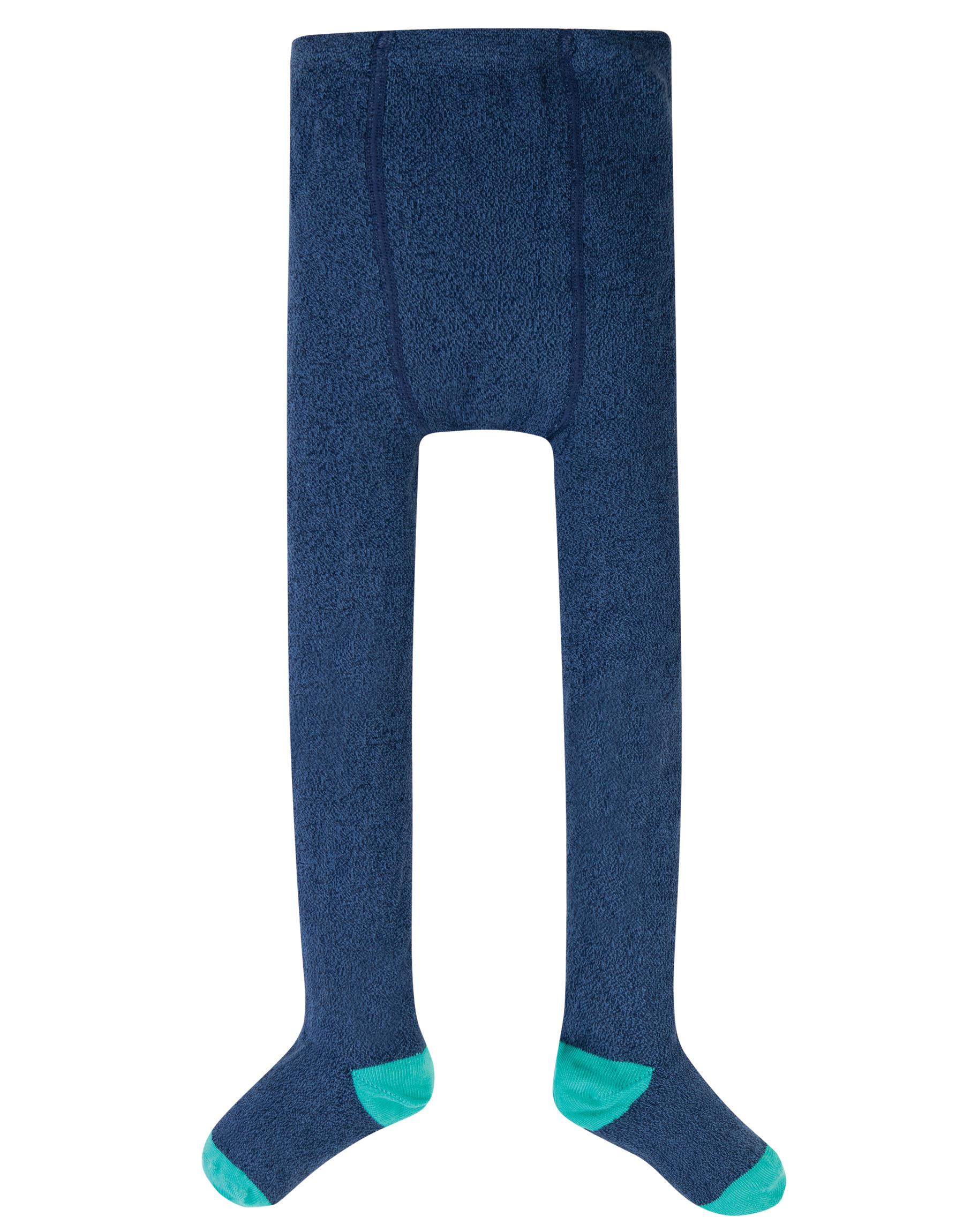 Frugi - Heather tights, Space blue nepp