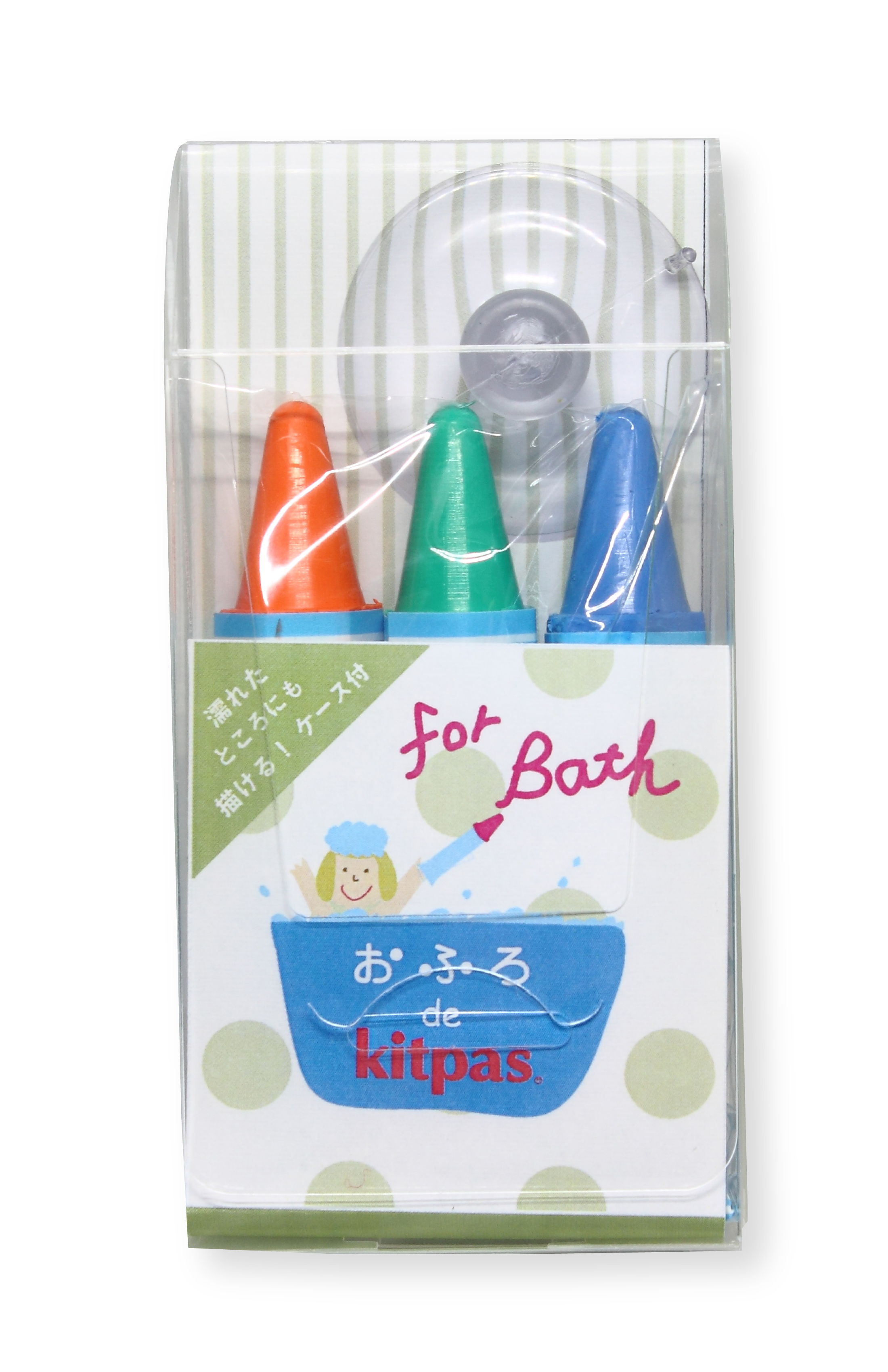 Kitpas - bath crayons - 3 pack Orange Green & Blue