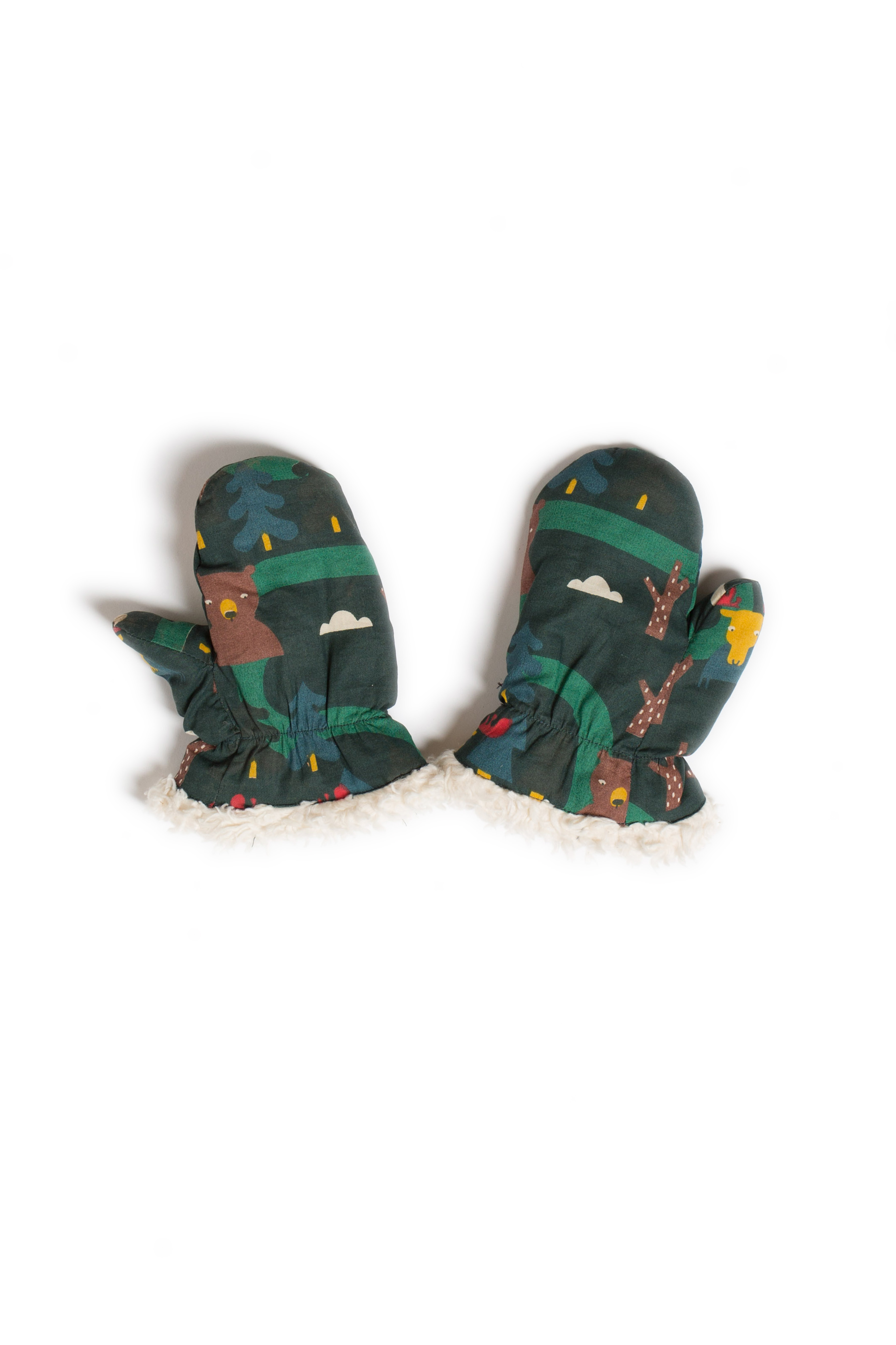 Little Green Radicals - Nordic forest mittens