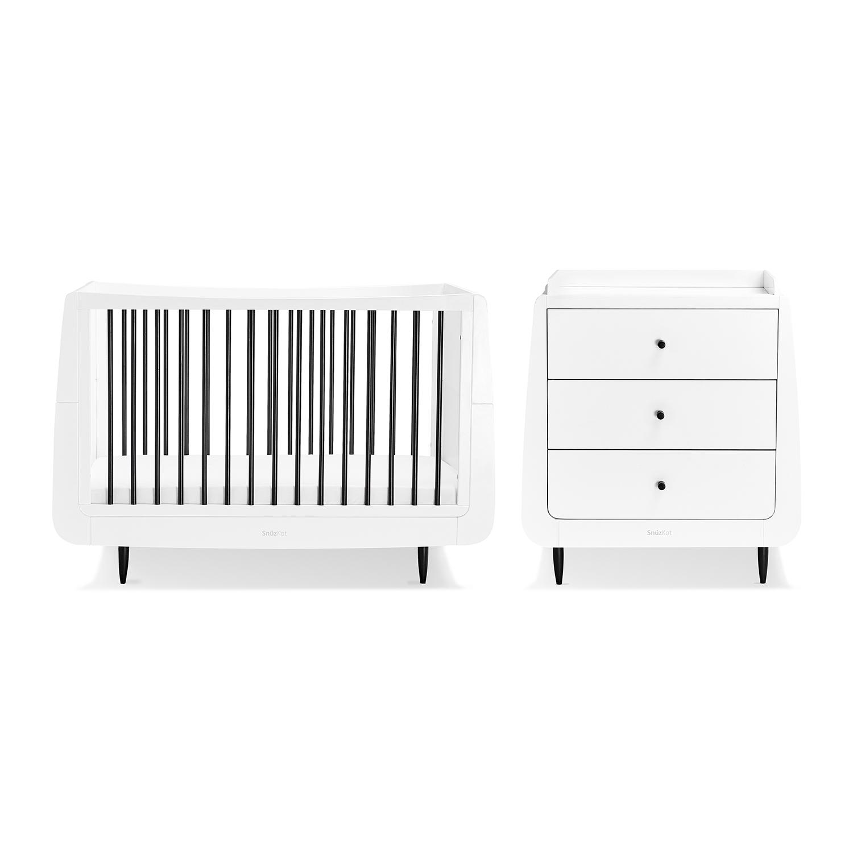 SnuzKot Skandi 2 Piece Nursery Furniture Set - Mono (SAVE £50)