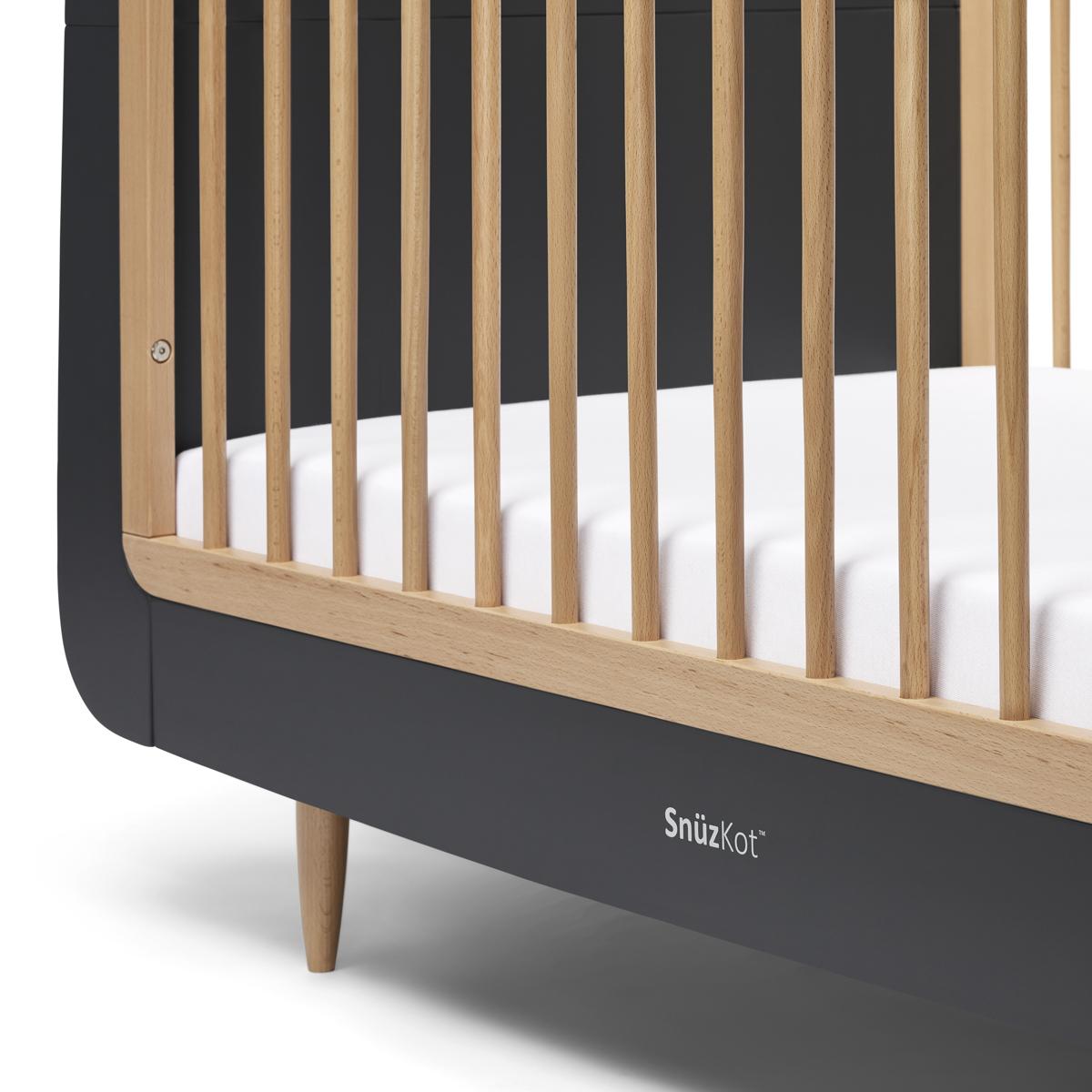 SnuzKot Skandi Cot Bed – Slate