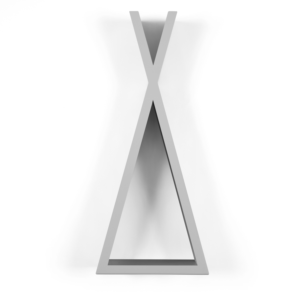 Snuz Teepee Shaped Nursery Shelf – Grey - Small