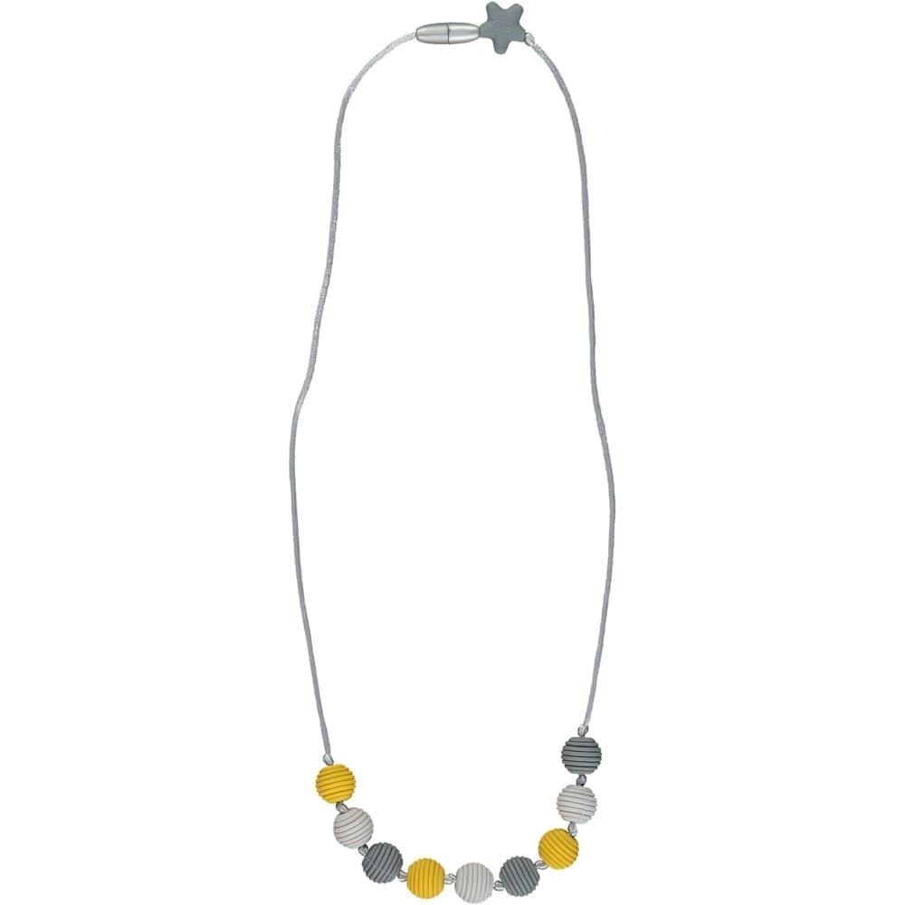 Nibbling - Henley Teething Necklace - Mustard & Grey