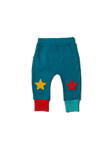 Little Green Radicals - Teal Star Joggers