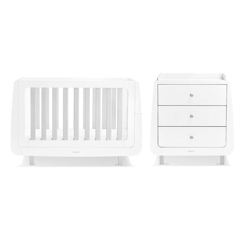 SnuzKot Mode 2 Piece Nursery Furniture Set - Grey (SAVE £50)