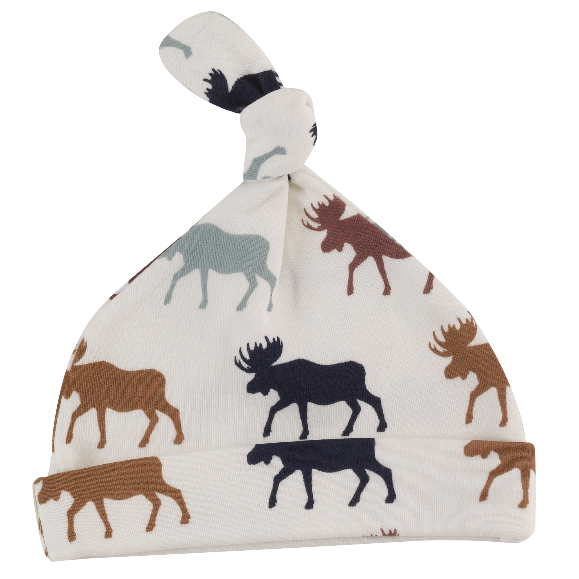 Pigeon - Knotted hat (print), moose - multicolour,