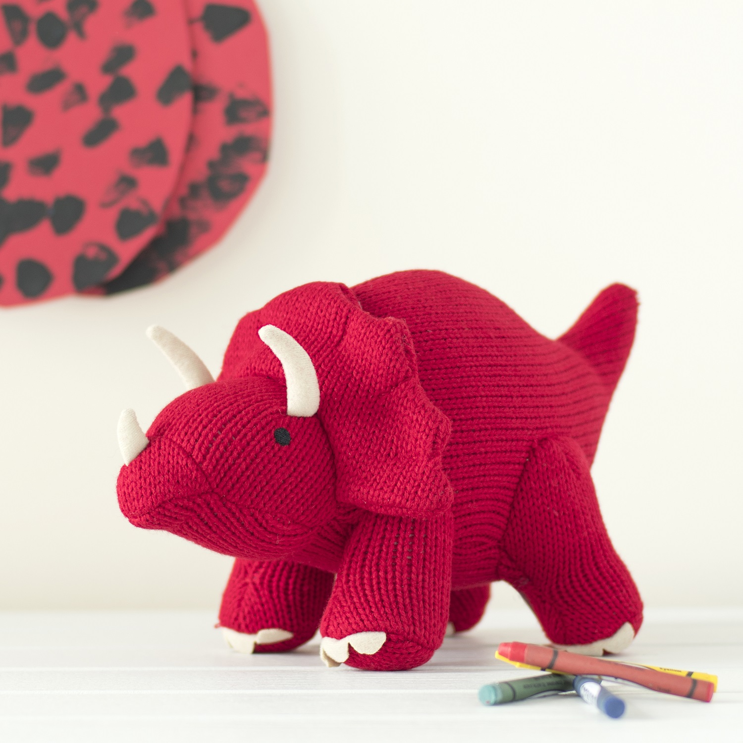 Best Years - Knitted Large Toy - Triceratops