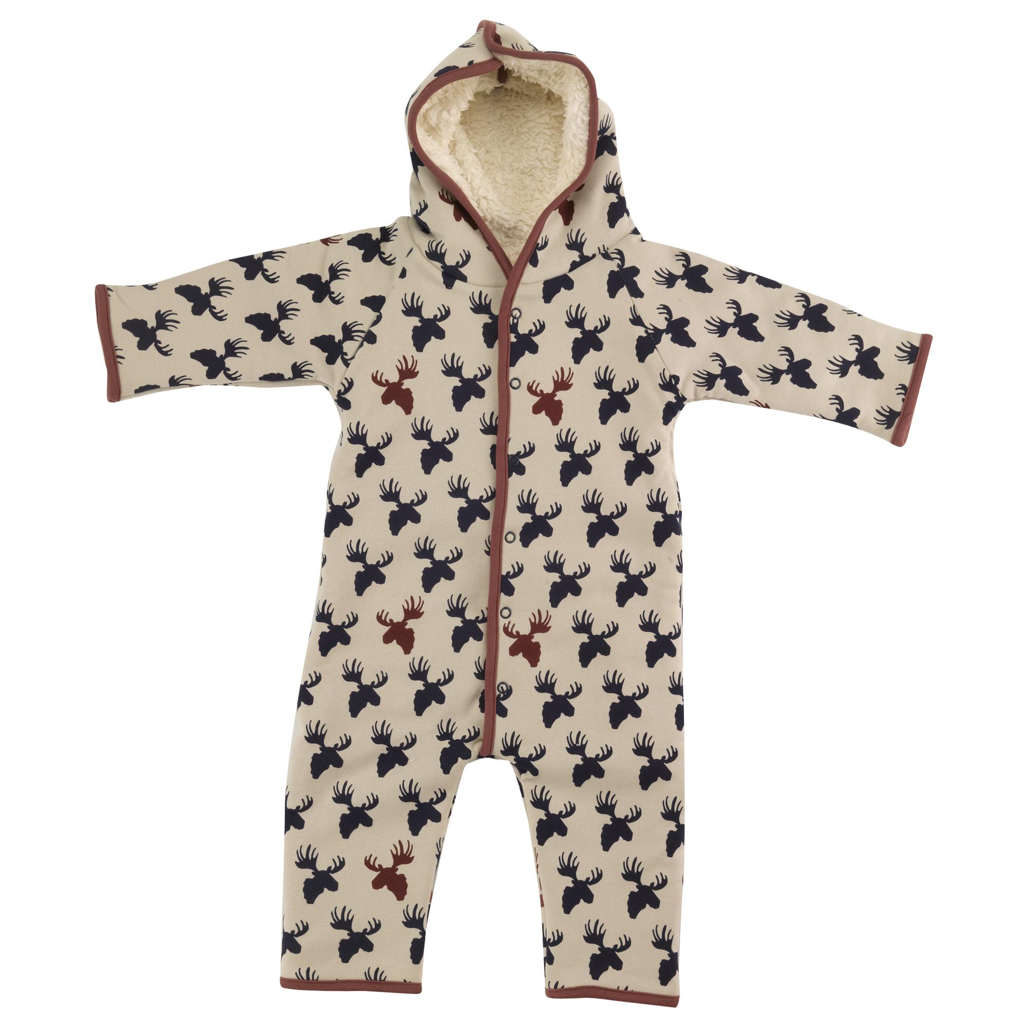 Pigeon - Snuggle suit, moose head - ink blue/pumice,