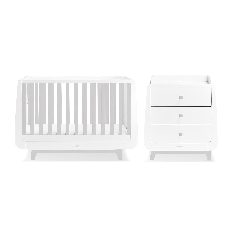SnuzKot Luxe 2 Piece Nursery Furniture Set - Grey (SAVE £50)