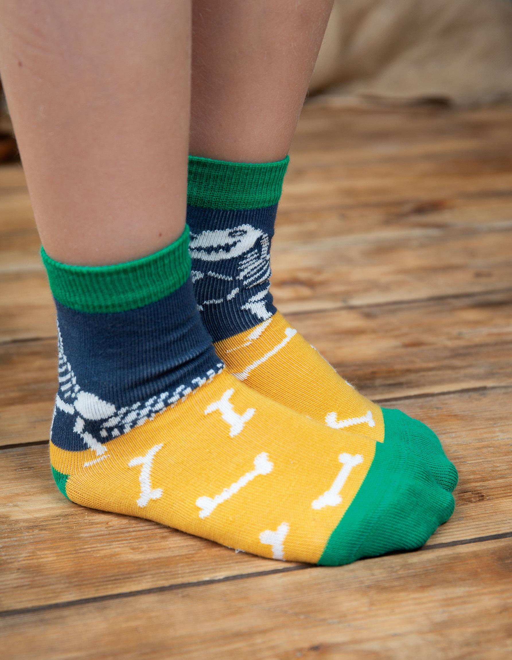 Frugi - Rock My Socks 3 Pack, Dino Multipack, UK 13-2