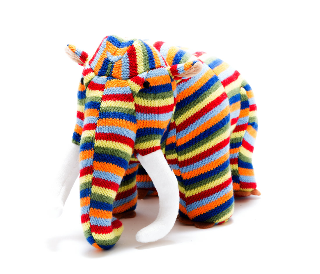 Best years - Knitted Medium Toy - Mammoth - Stripe
