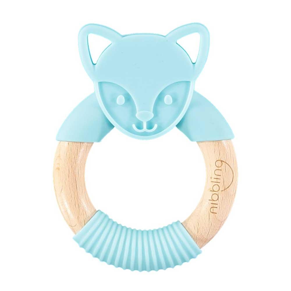 Nibbling - Flex Fox Forest Friends Teething Toy – Blue