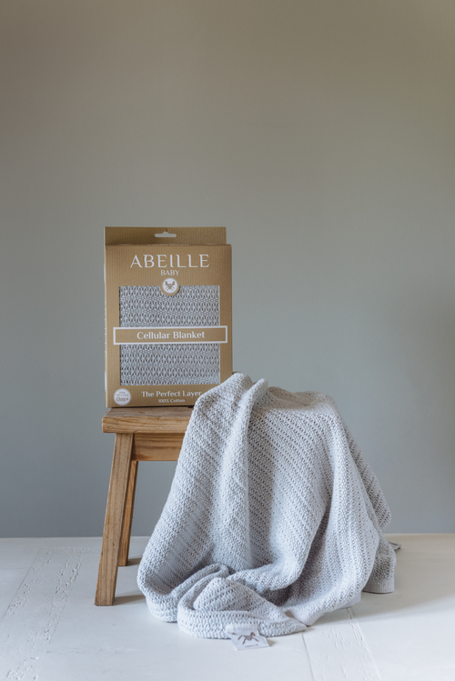 Abeille Cellular blanket - Forest (Grey)