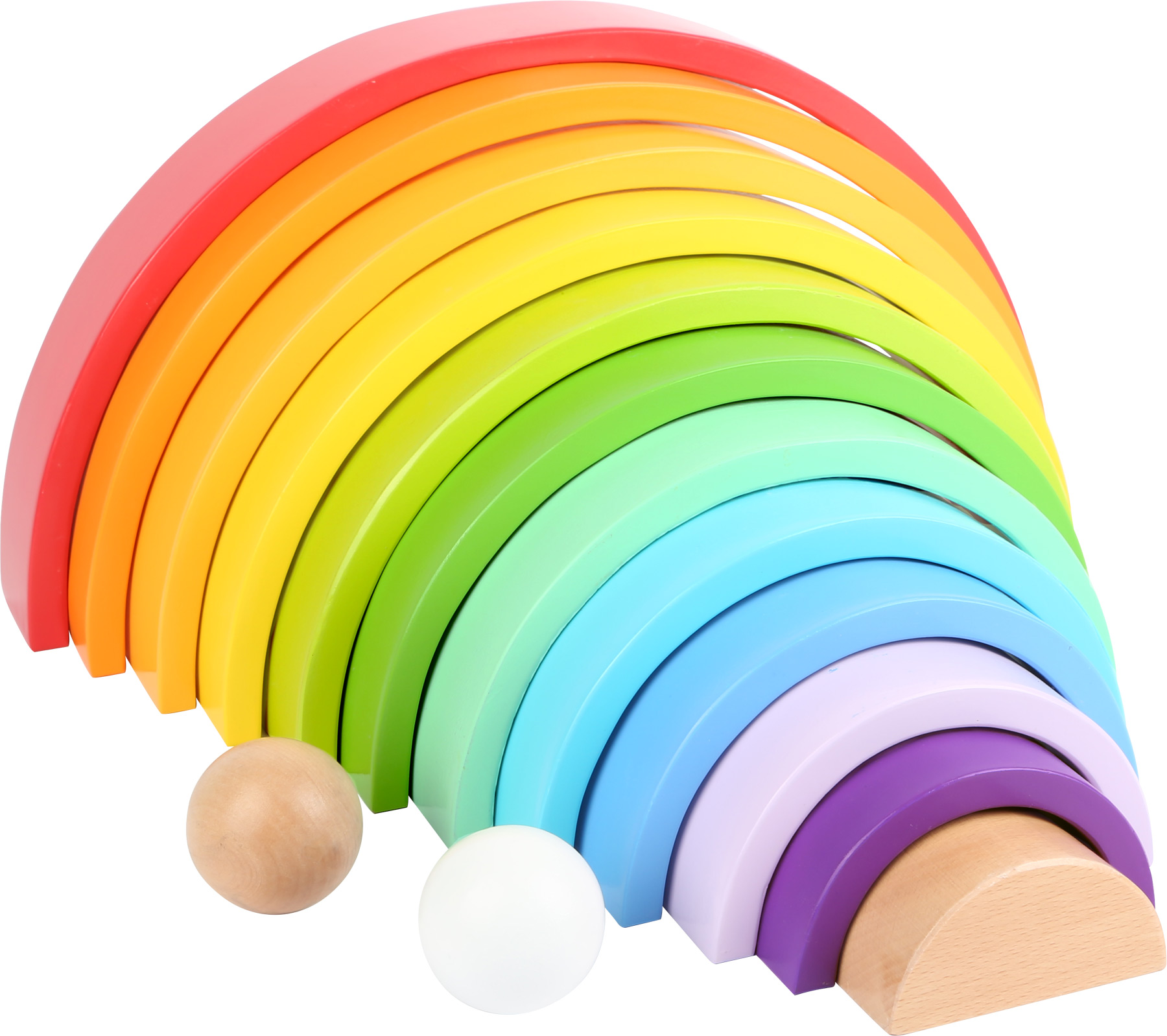 Small foot - XL rainbow wooden building blocks