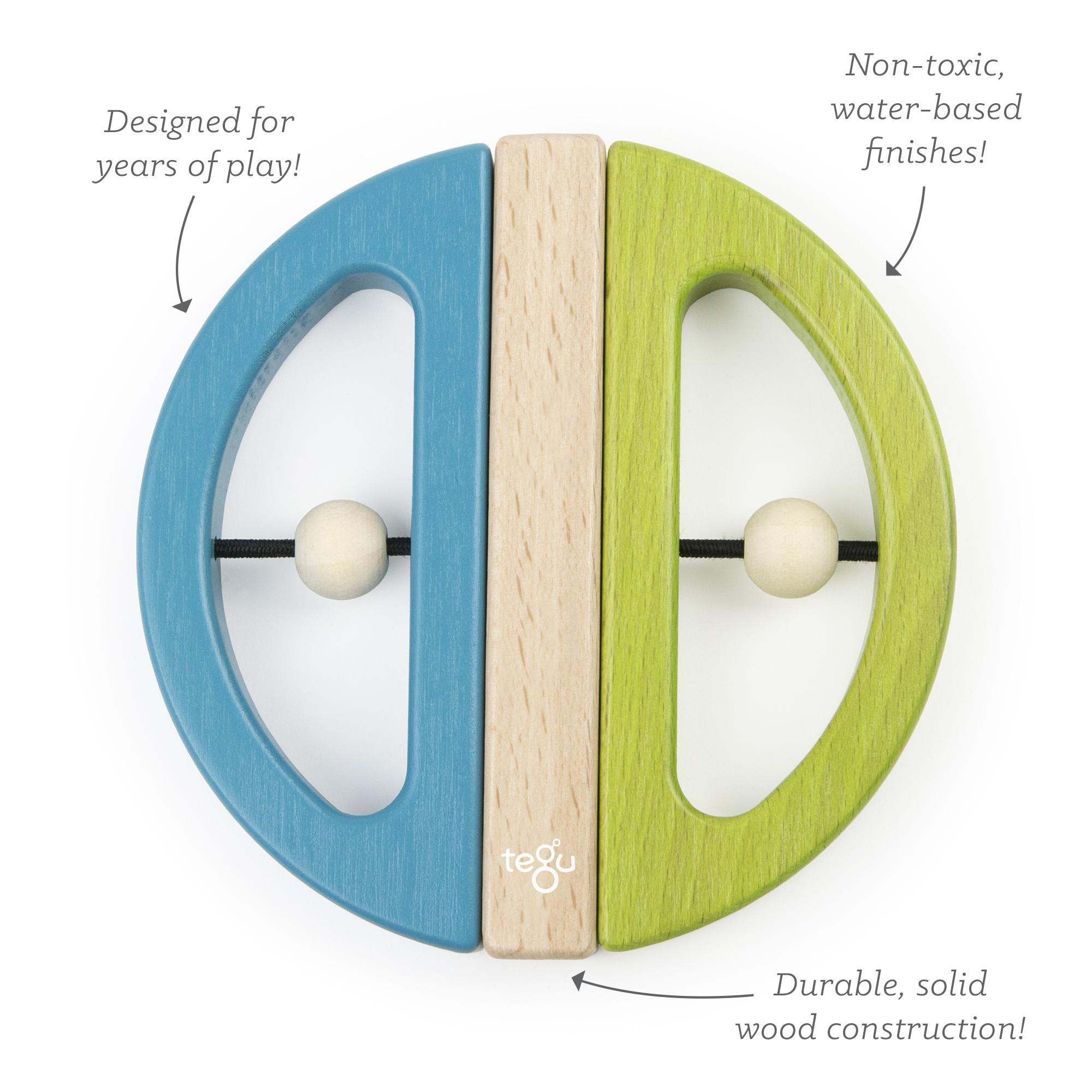 Tegu- swivel bug- blue and green