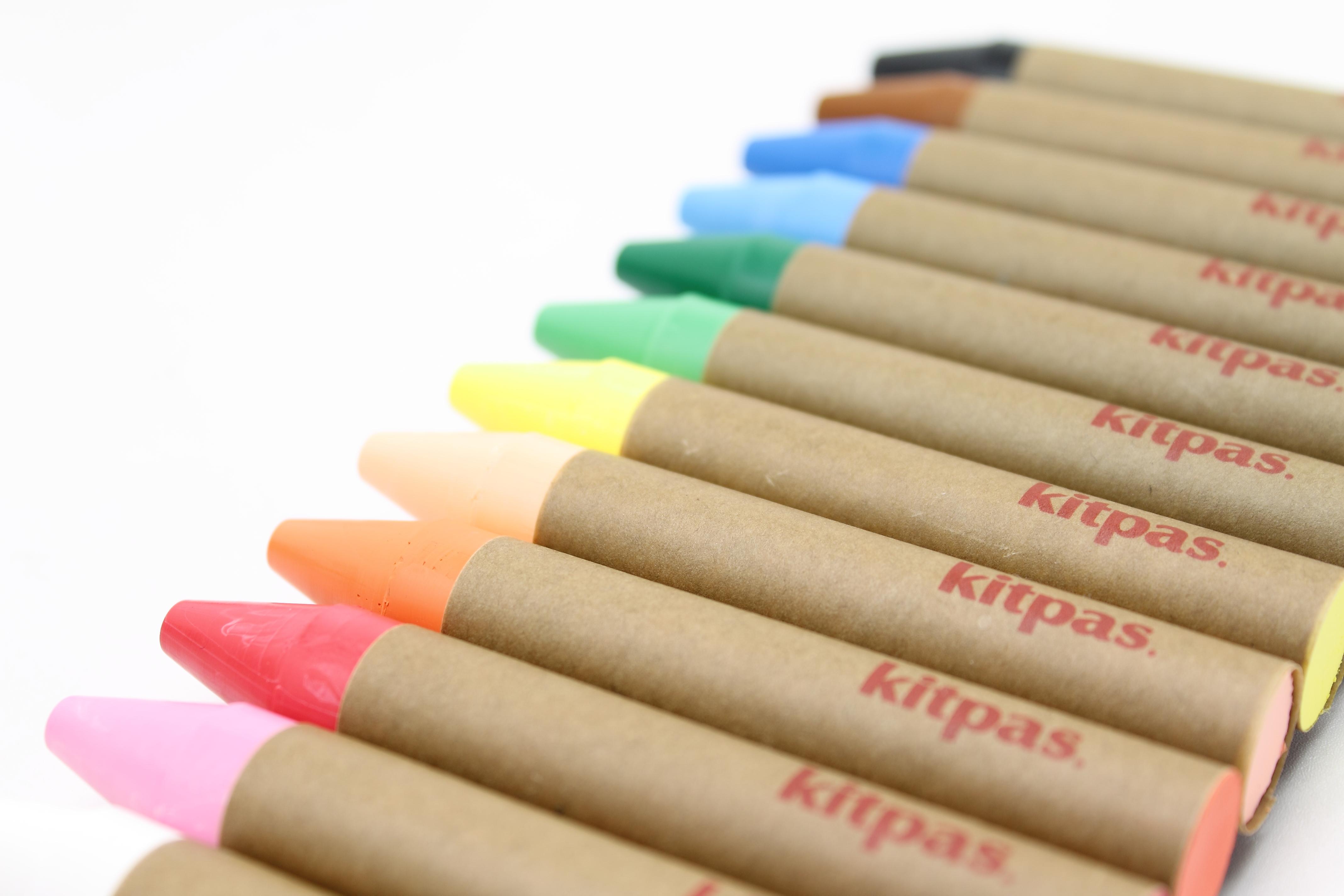 Kitpas - Crayon Large - 12 Colours