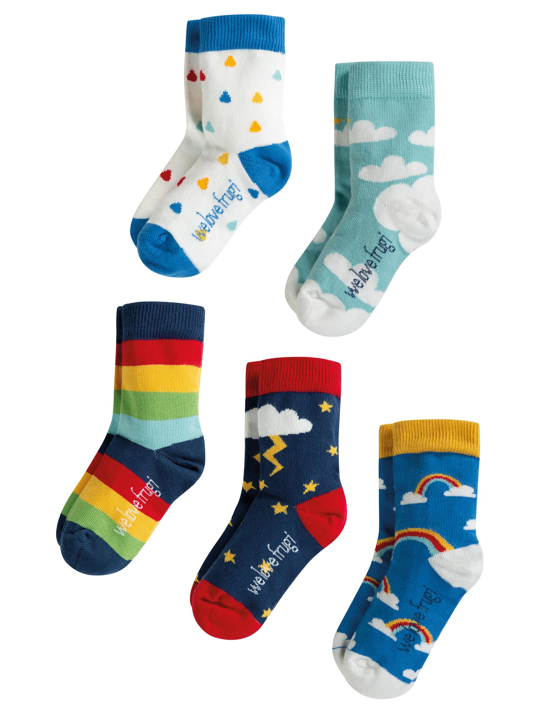 Frugi - Socks in a box Weather multipack